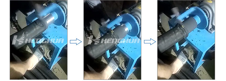 HS9 hose cutting machine application